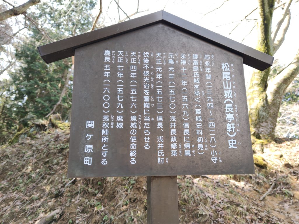 松尾山城の歴史