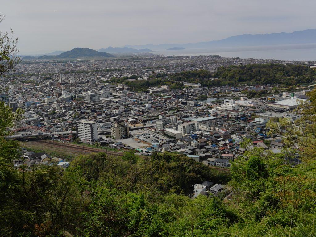 佐和山城本丸からの景観