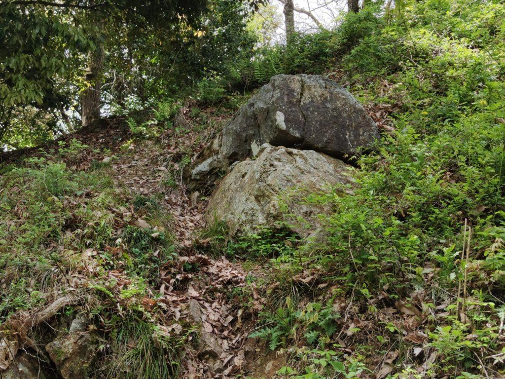 佐和山城天守閣の石垣