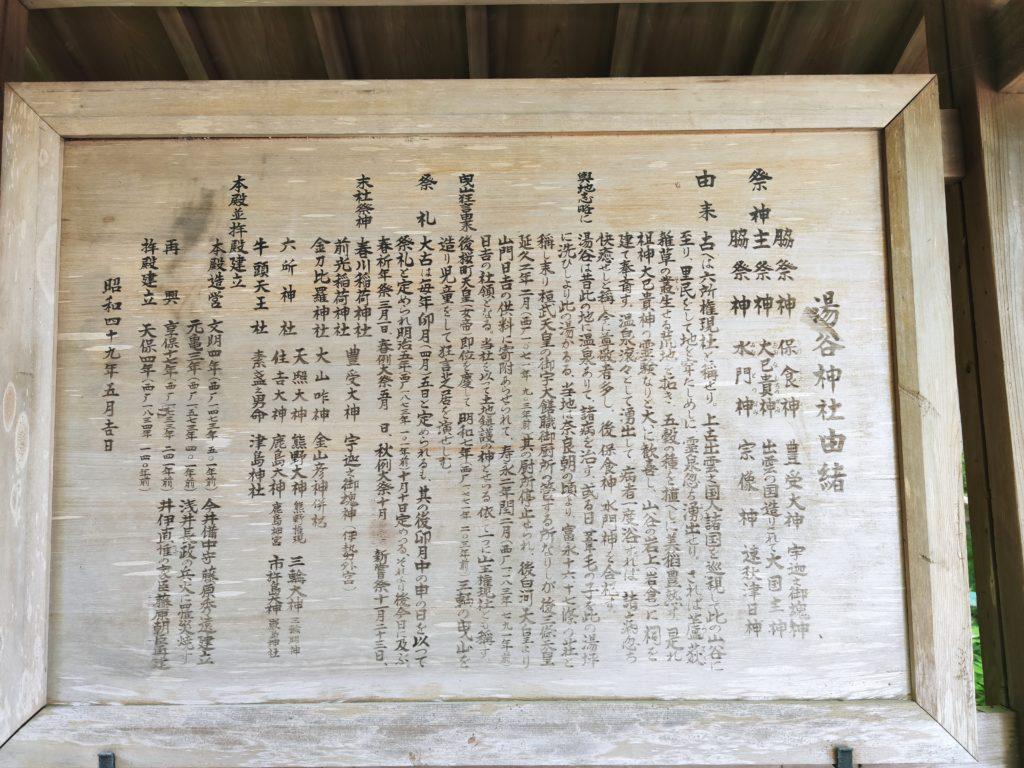 湯谷神社由緒