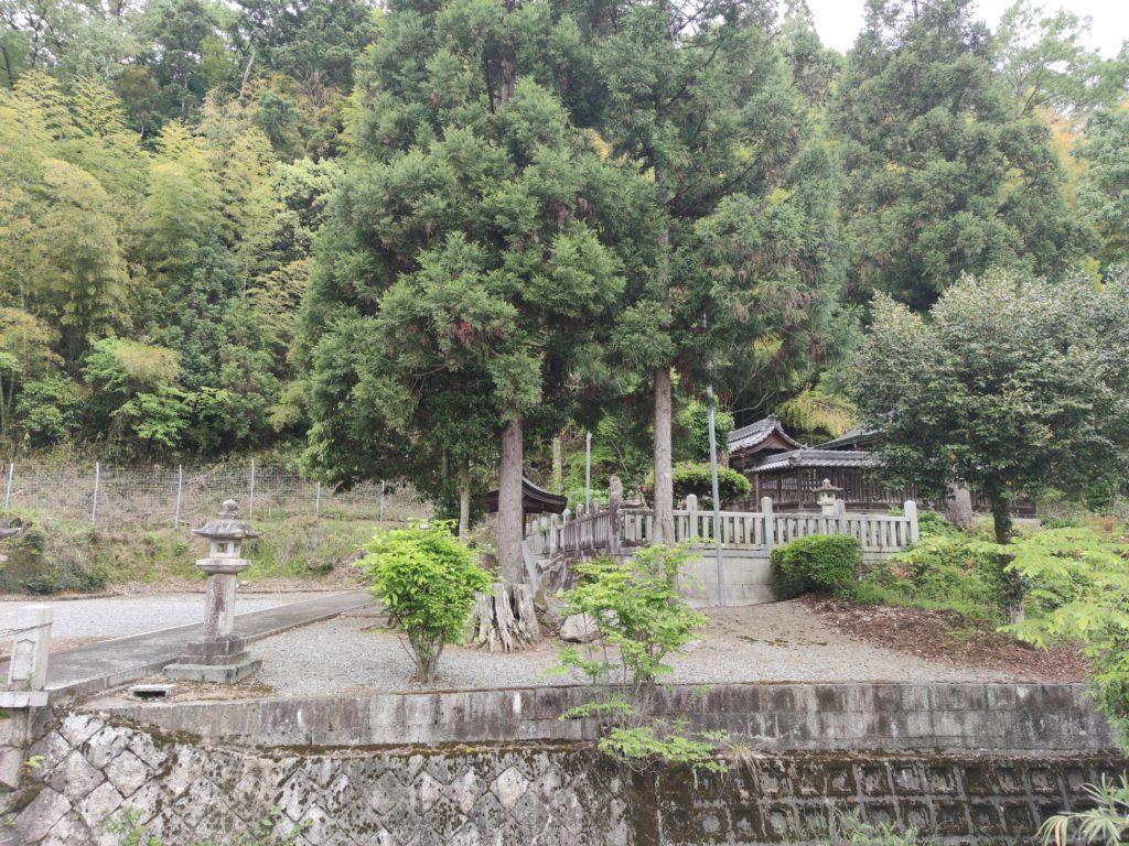 直孝神社の小川