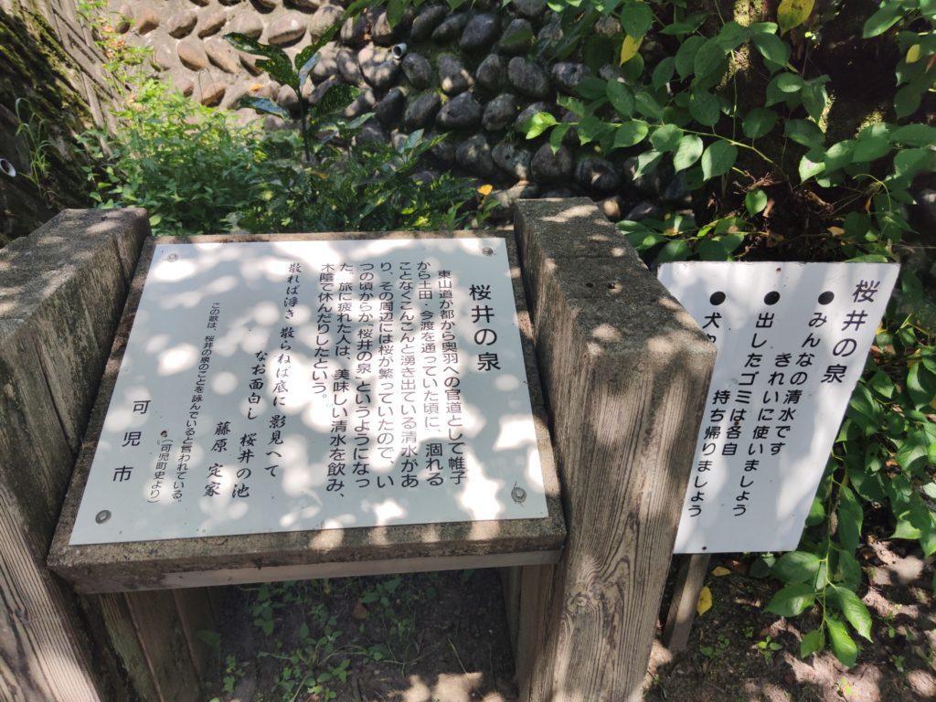 桜井の泉の由来