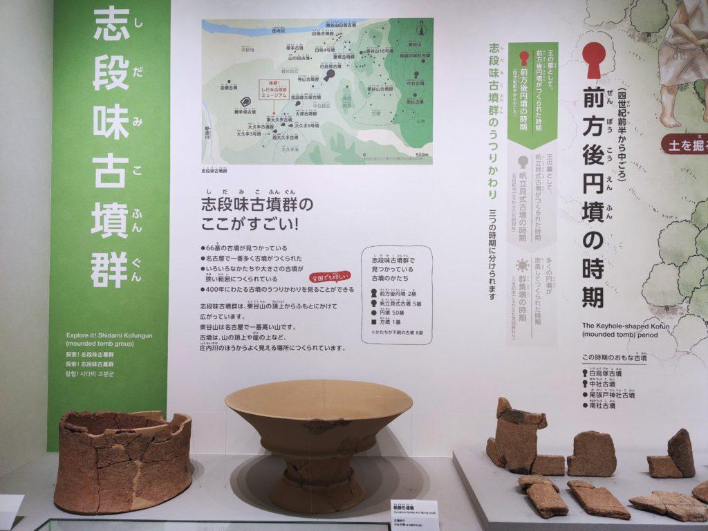 しだみ古墳群ミュージアムの展示品