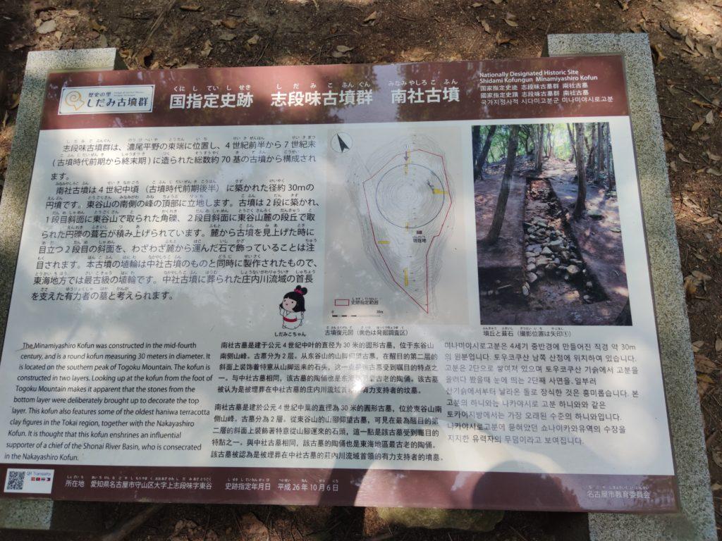 南社古墳の説明