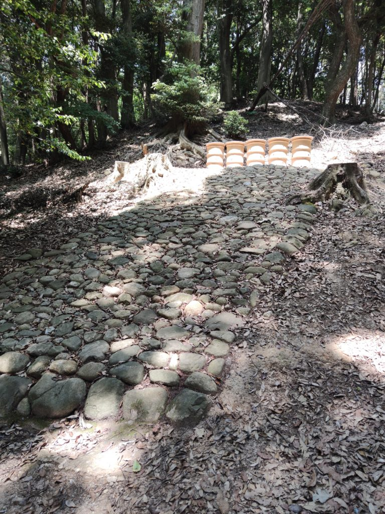 中社古墳の復元部分