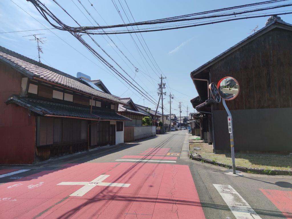清須市内の美濃路