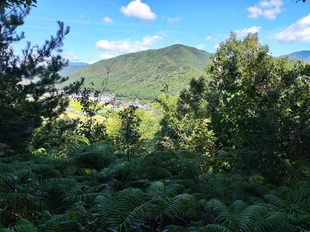 小谷山を望む
